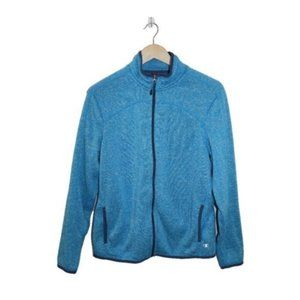 Champion Blue Knit Full Zip Cozy Sweater Jacket